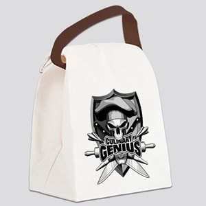 Culinary Genius Skull Canvas Lunch Bag