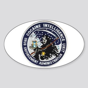D.E.A. Cocaine Intel Oval Sticker