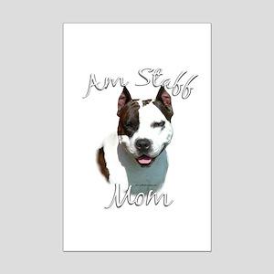 Am Staff Mom2 Mini Poster Print