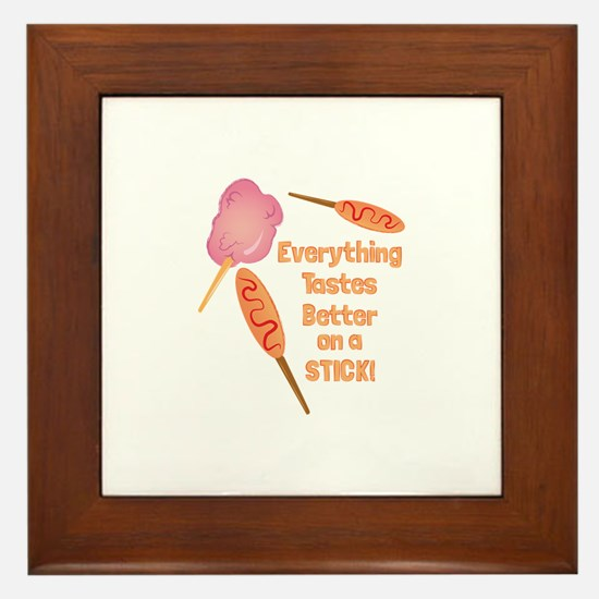 Fair Food Framed Tile