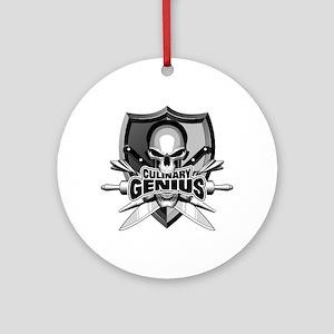 Chef Skull Genius Round Ornament