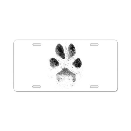 Zoe Pawprint Aluminum License Plate by TopDogDesign