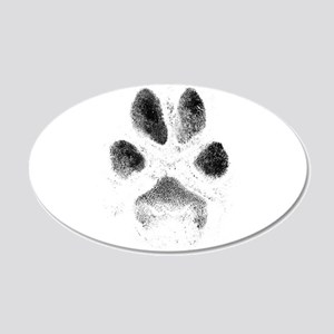 Zoe Pawprint White 20x12 Oval Wall Decal