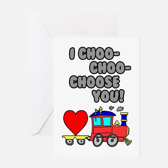Choo Choose You Card Greeting Cards