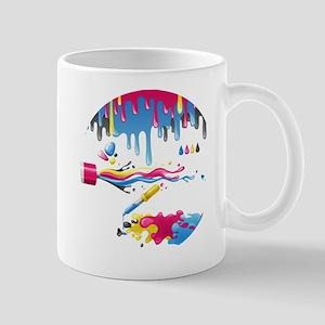 Paint spill art Mugs