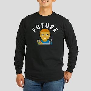 Emoji Future Artist Long Sleeve Dark T-Shirt