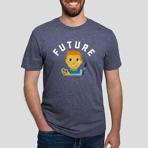 Emoji Future Artist Mens Tri-blend T-Shirt