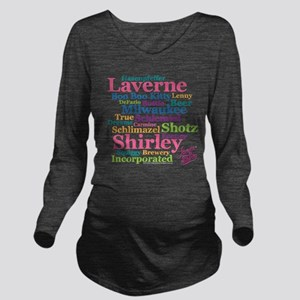 Laverne and Shirley: Long Sleeve Maternity T-Shirt