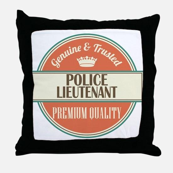 police lieutenant vintage logo Throw Pillow