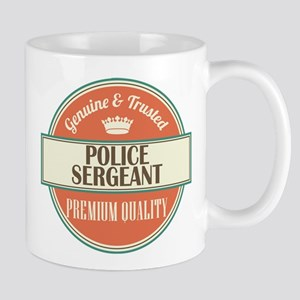 police sergeant vintage logo Mug