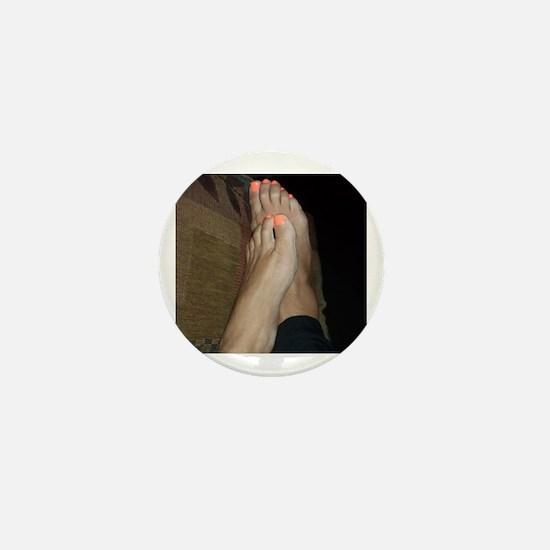 Cute Toes Mini Button