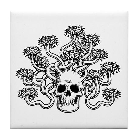 Medusa Skull Tile Coaster