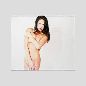 Sexy Naked Woman Throw Blanket