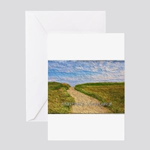 Chilmark Beach Path Greeting Cards