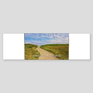Chilmark Beach Path Bumper Sticker