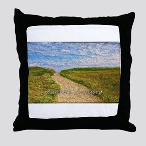 Chilmark Beach Path Throw Pillow