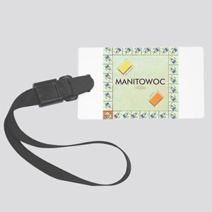Manitowoc County monopoly Large Luggage Tag