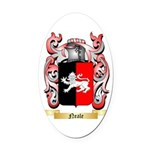 Neale English Oval Car Magnet