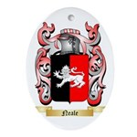 Neale English Oval Ornament
