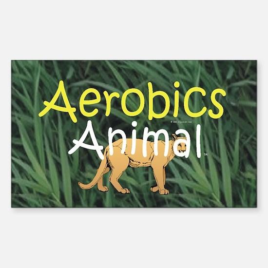 TOP Aerobics Animal Rectangle Decal