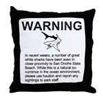 San Onofre Great White Shark Throw Pillow