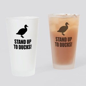 Funny Duck Drinking Glass