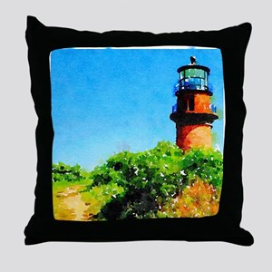 Gay Head Lighthouse Throw Pillow