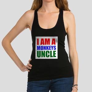 I Am A Monkeys Uncle Racerback Tank Top