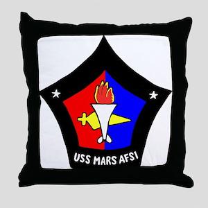 USS Mars (AFS 1) Throw Pillow