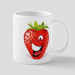Smiling Strawberry Mugs