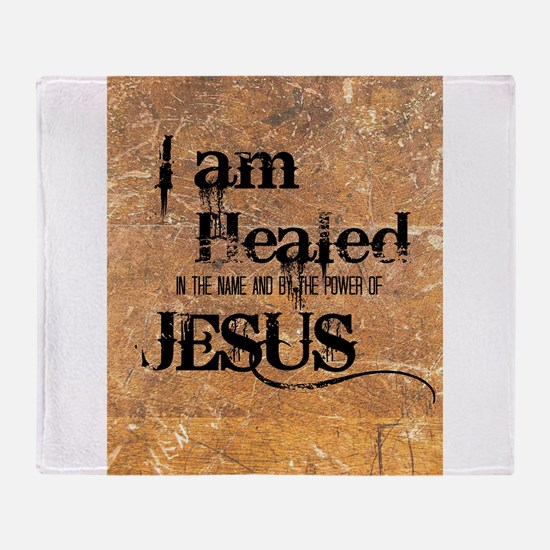 I AM HEALED Throw Blanket