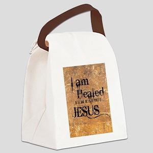 I AM HEALED Canvas Lunch Bag
