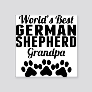 World's Best German Shepherd Grandpa Sticker