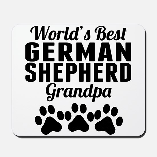 World's Best German Shepherd Grandpa Mousepad
