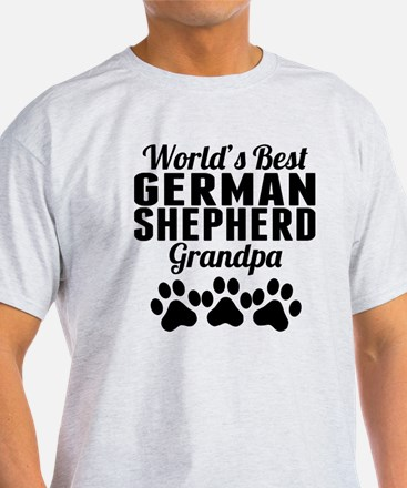 World's Best German Shepherd Grandpa T-Shirt