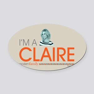 Modern Family I'm a Claire Oval Car Magnet
