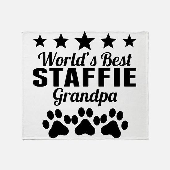 World's Best Staffie Grandpa Throw Blanket