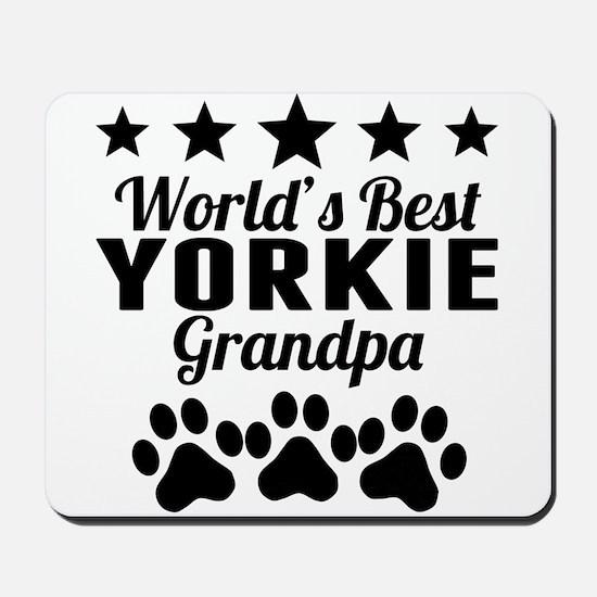 World's Best Yorkie Grandpa Mousepad