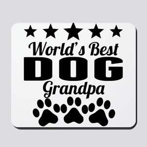 World's Best Dog Grandpa Mousepad