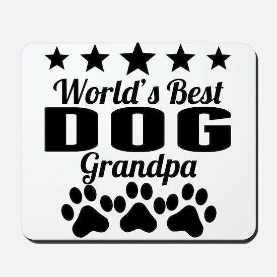 World's Best Dog Grandpa Mousepad