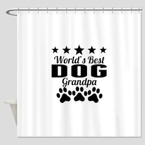 World's Best Dog Grandpa Shower Curtain