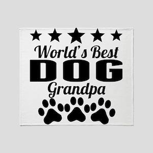 World's Best Dog Grandpa Throw Blanket