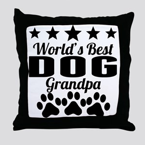 World's Best Dog Grandpa Throw Pillow