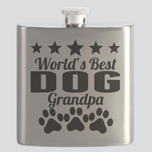 World's Best Dog Grandpa Flask