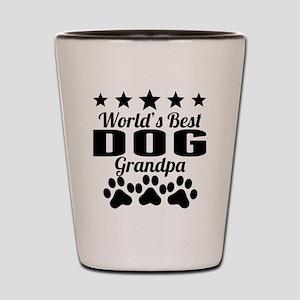 World's Best Dog Grandpa Shot Glass