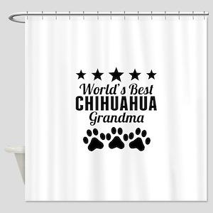 World's Best Chihuahua Grandma Shower Curtain