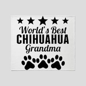 World's Best Chihuahua Grandma Throw Blanket