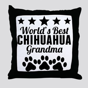World's Best Chihuahua Grandma Throw Pillow