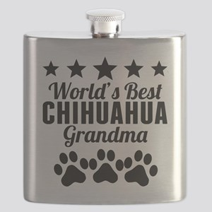 World's Best Chihuahua Grandma Flask