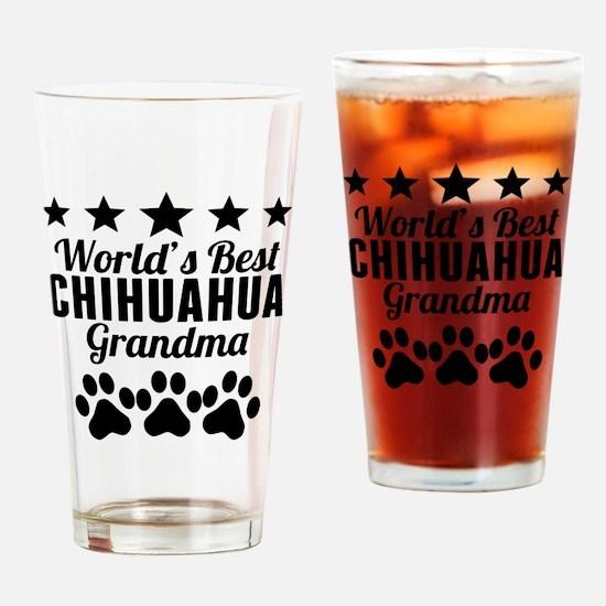 World's Best Chihuahua Grandma Drinking Glass
